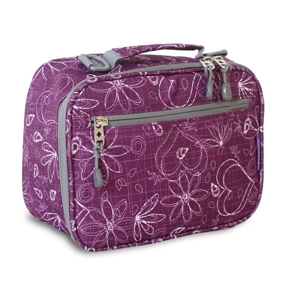 J World Cody Lunch Bag With Shoulder Strap Love Purple