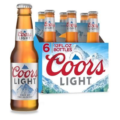 Coors Light Beer - 6pk/12 fl oz Bottles