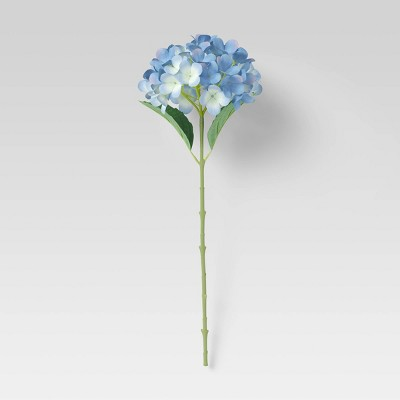 "24"" Artificial Hydrangea Plant Stem Blue - Threshold™"