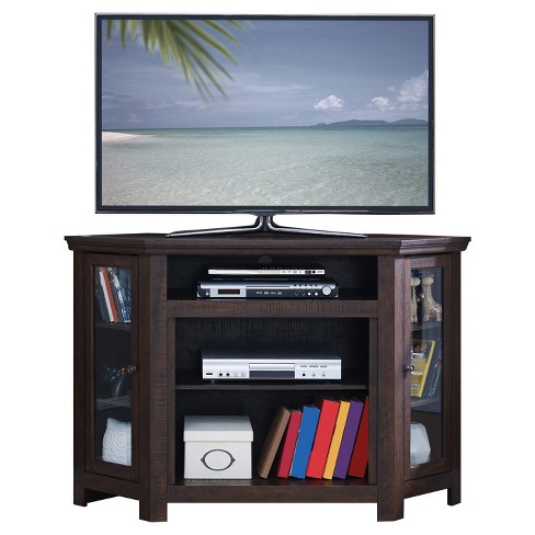 "Wood 47"" Corner TV Stand Espresso - Home Source Industries - image 1 of 4"
