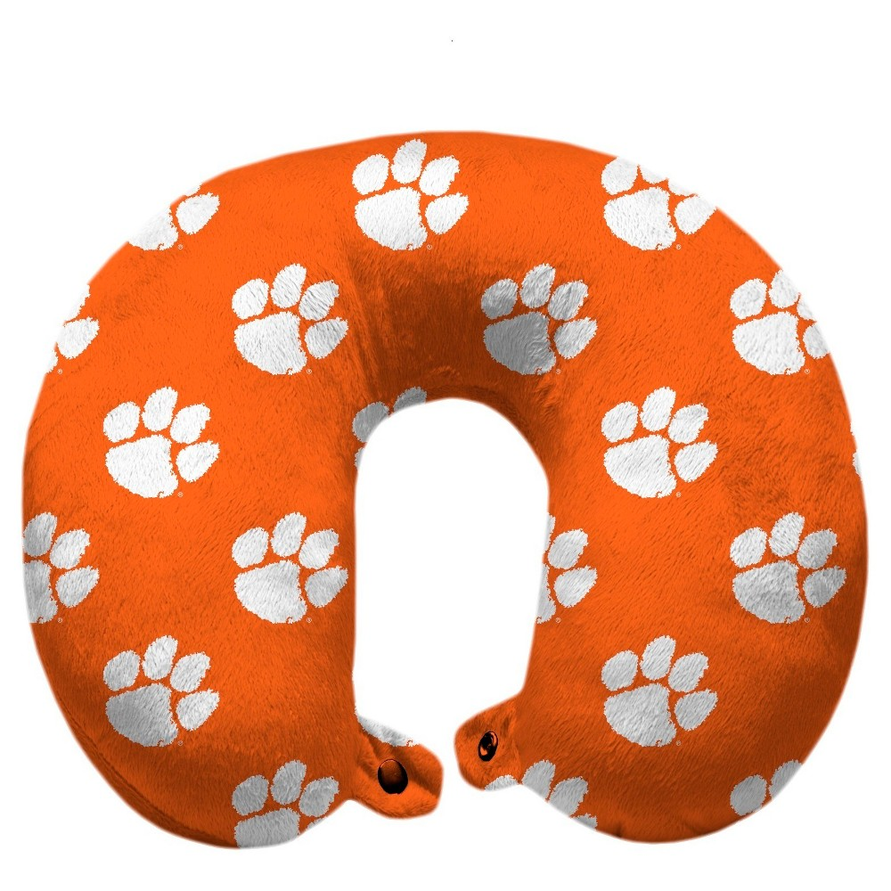 NCAA Clemson Tigers Polyester Travel Pillow