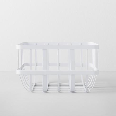 kitchen cabinet organizer basket white made by design. Black Bedroom Furniture Sets. Home Design Ideas