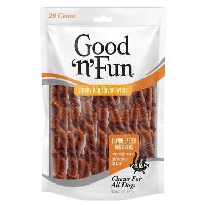 Good 'n' Fun BBQ Twists Dry Dog Treats - 20ct