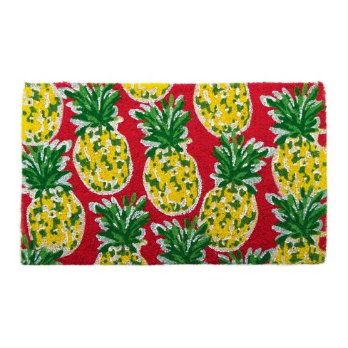 """TAG 1'6"""" x 2'6"""" Pineapple Coir Doormat Indoor Outdoor Welcome Mat - image 1 of 3"""