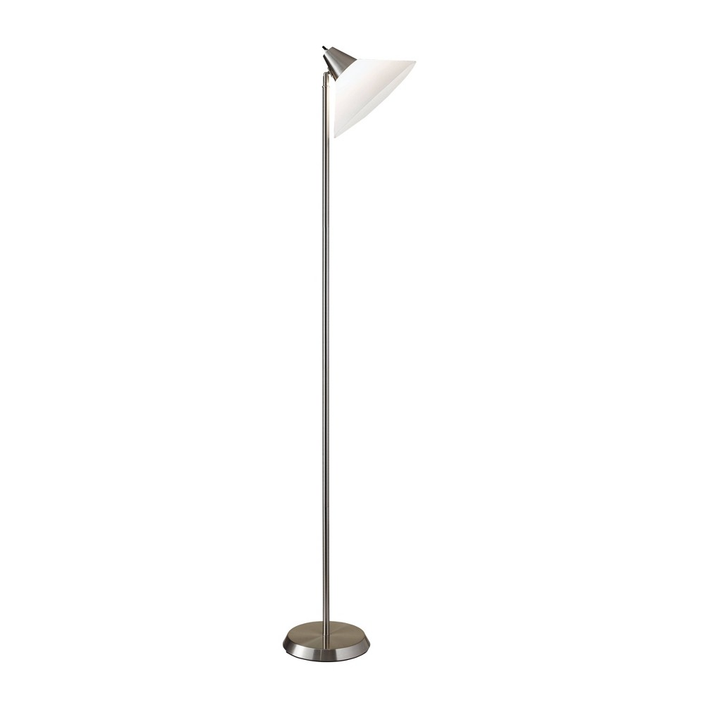 Image of Adesso Swivel Floor Lamp - Silver