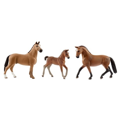 Schleich Horse Club Hanoverian Gelding, Mare, and Foal (3 pack) - image 1 of 4
