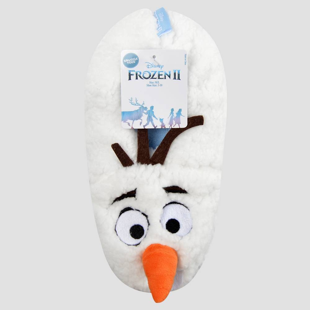 Image of Boys' Frozen 3D Olaf Slipper Socks - White M/L, Boy's, Size: Medium/Large