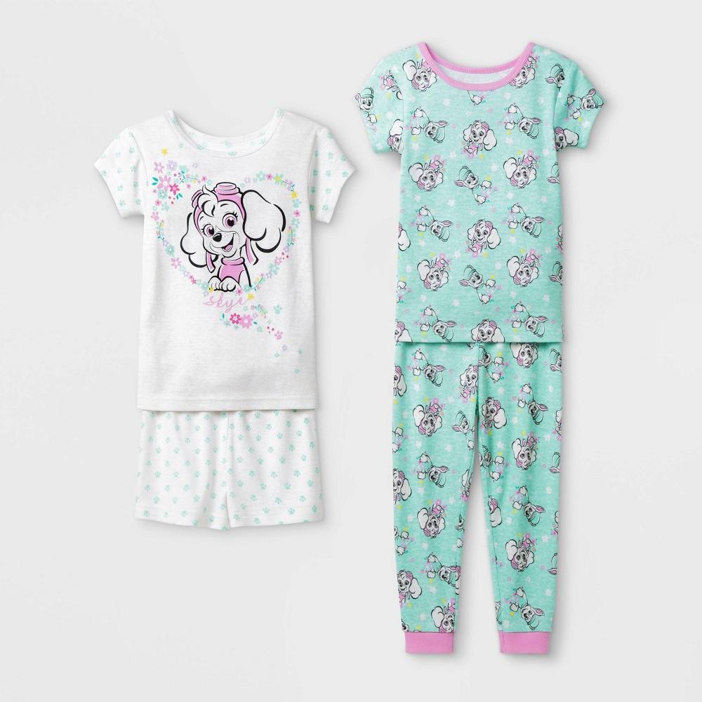 Image of Baby Girls' 4pc PAW Patrol Pajama Set - White 12M, Girl's
