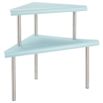mDesign Metal 3-Tier Corner Storage Shelves for Kitchen Countertop