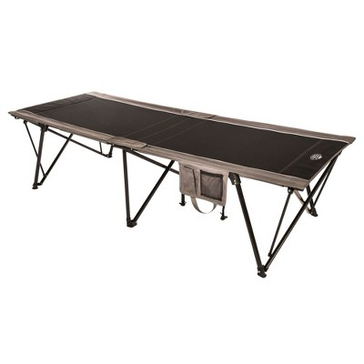 Kamp Rite Oversize Folding Portable Kwik Cot for 1 Person with Carry Bag, Suitable for Outdoor Recreation & Extra Guest Bed, Brown