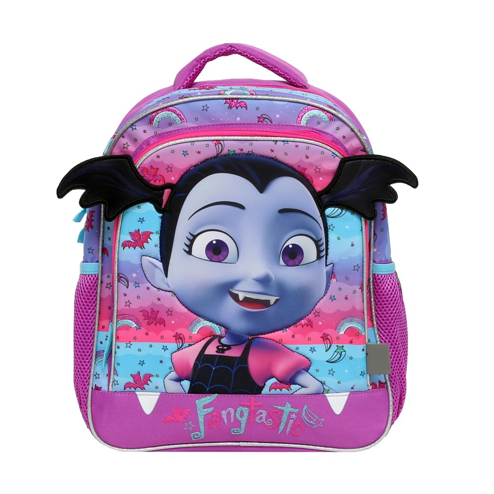"Image of ""Disney Vampirina 14"""" Fanged Friend Kids' Backpack with Headband, Girl's, Size: Large, Purple"""