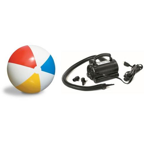"Swimline 36"" Rainbow Inflatable Pool Lake Beach Ball Toy 110V Electric Air Pump - image 1 of 4"