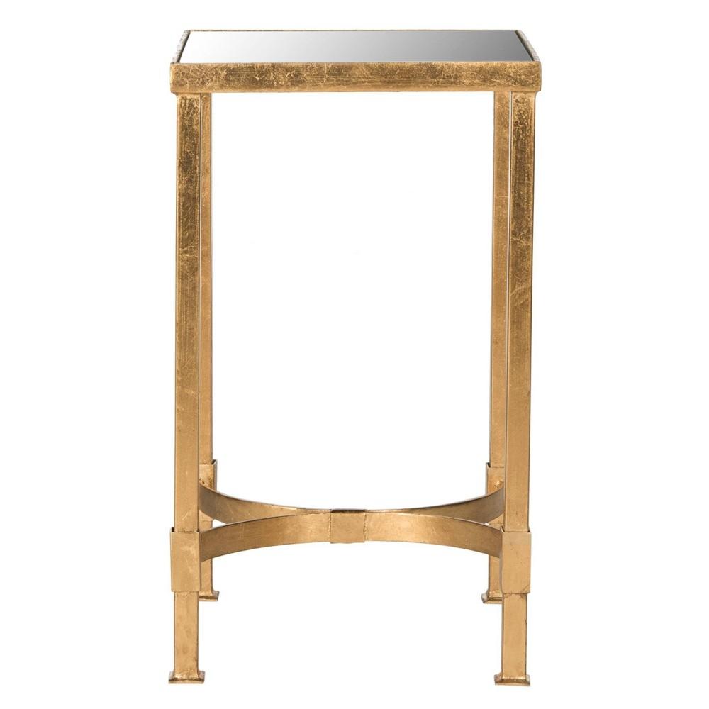 Gellert End Table Gold/Mirror - Safavieh
