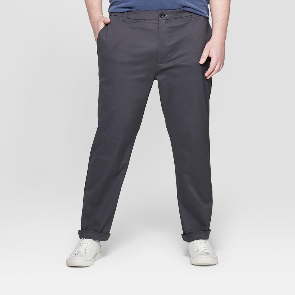 Men's Big & Tall Chino Pants - Goodfellow & Co Charcoal (Grey) 44x32