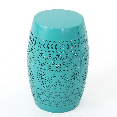 Ruby 12  Iron Side Table - Teal - Christopher Knight Home