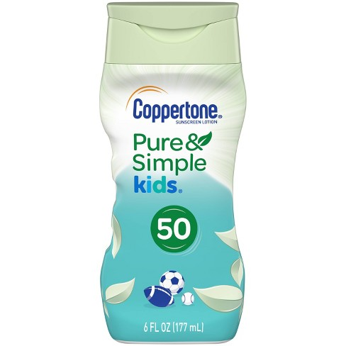 Coppertone Kids Pure and Simple Botanicals Sunscreen Lotion- SPF 50 - 6oz - image 1 of 4