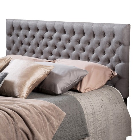 Bolton Button Tufted Headboard Queen/Full Gray -Christopher Knight Home
