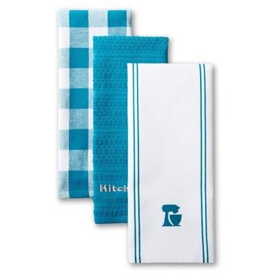 KitchenAid 3pk Mixer Kitchen Towels - Blue/White