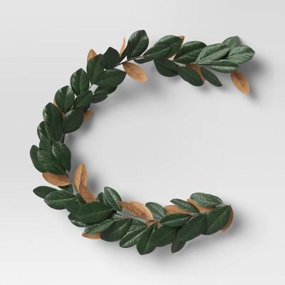 "72"" Artificial Magnolia Leaves Garland - Threshold™"