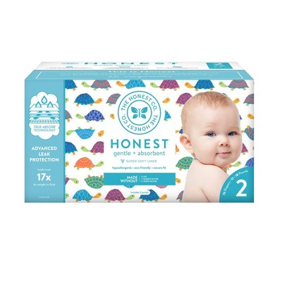 The Honest Company Happy Together Club Box Disposable Diapers - Size 2 (76ct)