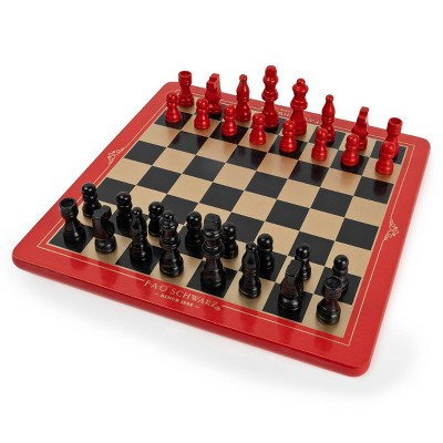FAO Schwarz - Wood Chess, Checkers and Tic-Tac-Toe Game Set