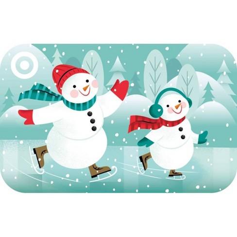 Skating Snowmen Target GiftCard - image 1 of 1