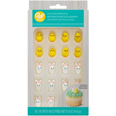 Wilton Easter Chicks and Bunnies Icing Decorations - 24ct