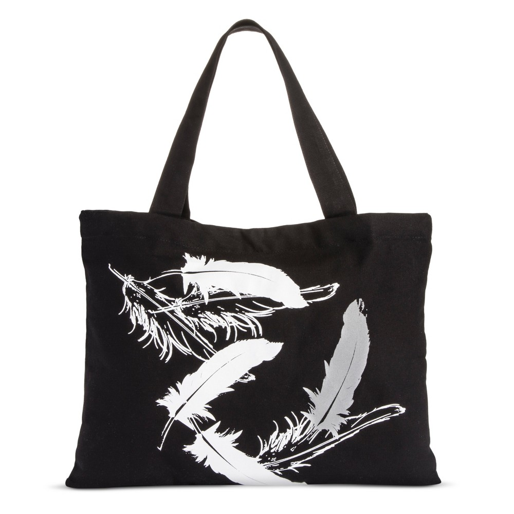 Image of Printed Tote - Black/White/Silver - Accompany, Women's