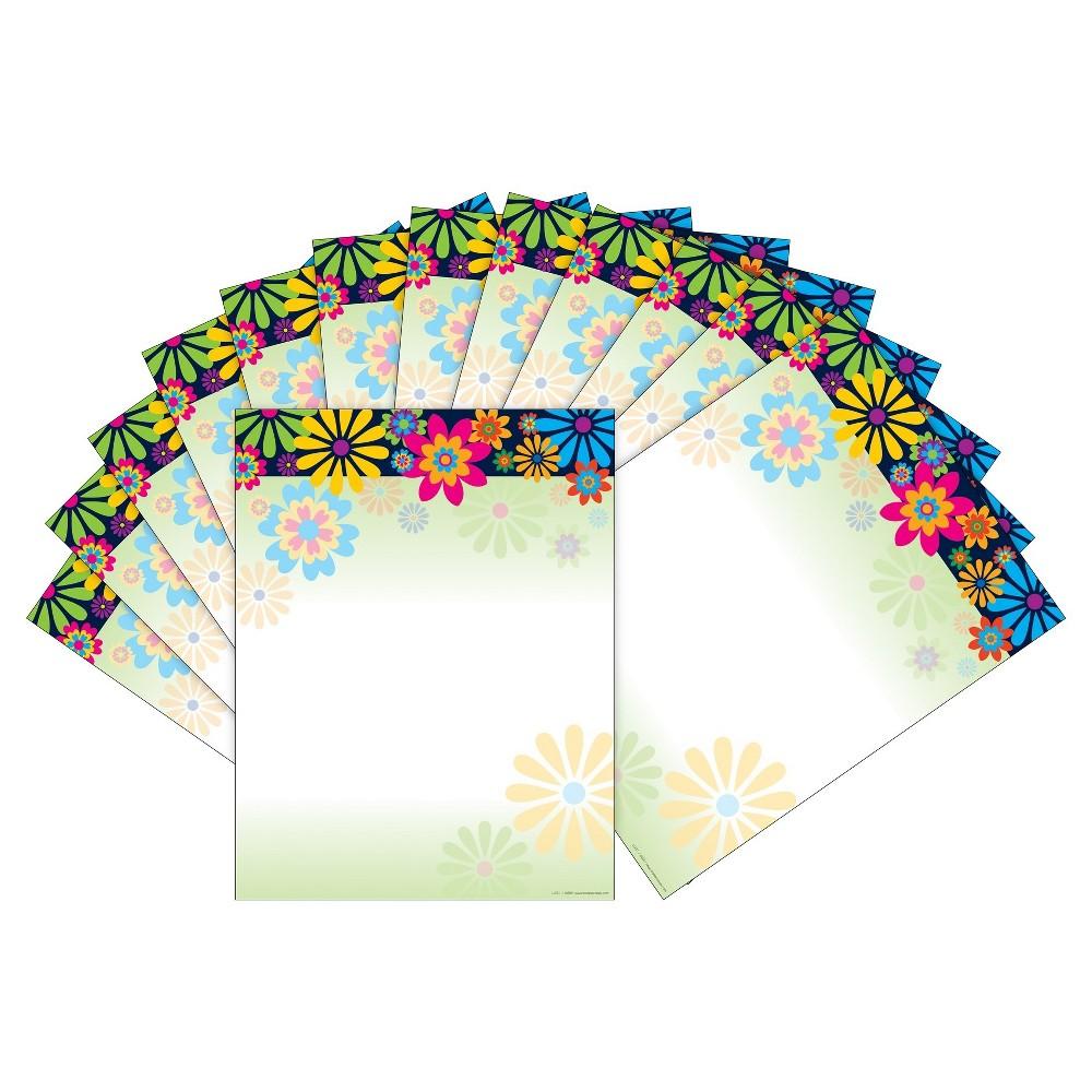 Barker Creek 2pk Printer Paper 100ct - Colorful Florals, Multi-Colored