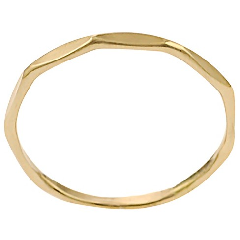 Women's Journee Collection Handmade Band in 14K Gold-plated Sterling Silver - Gold - image 1 of 2