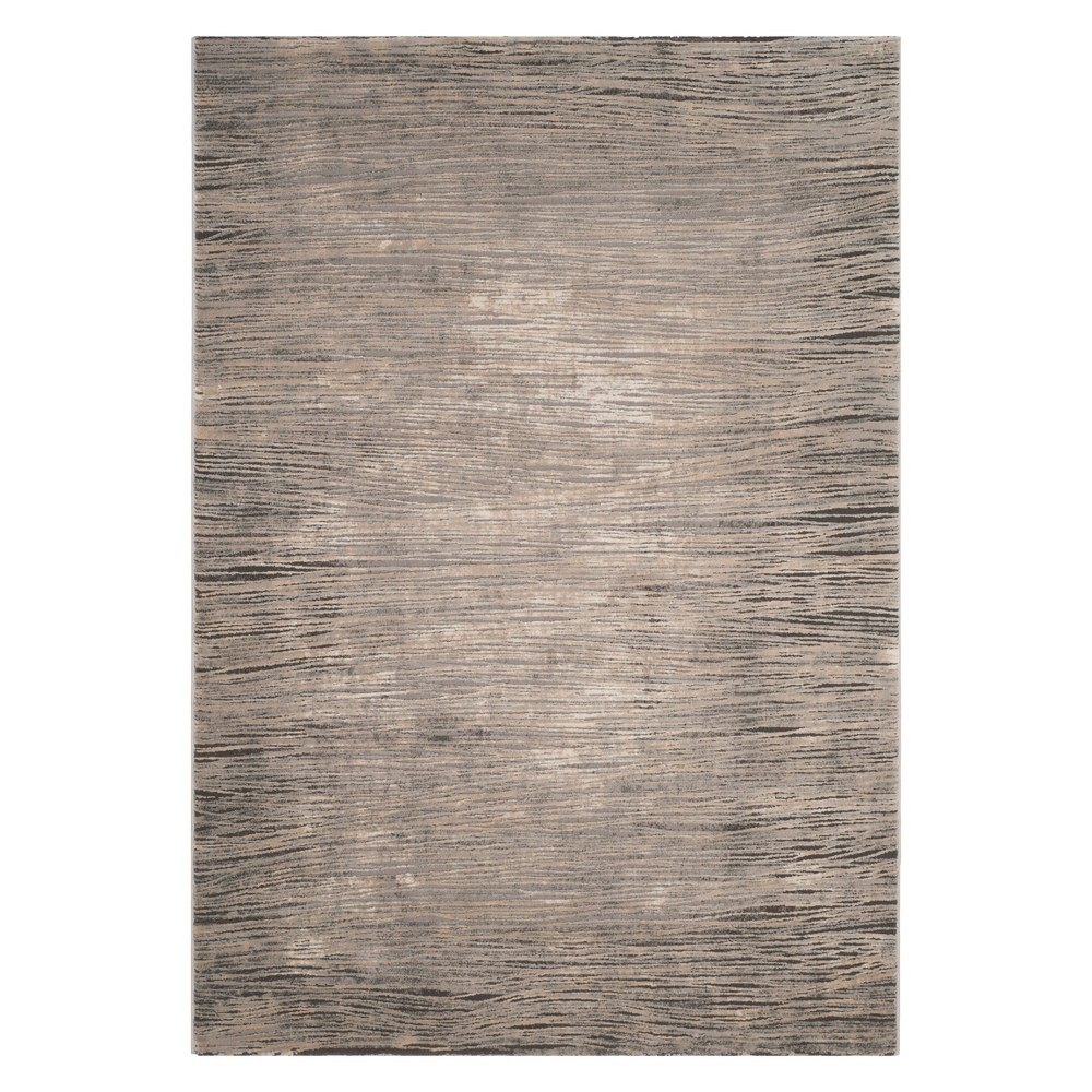 9'X12' Solid Area Rug Ivory/Gray - Safavieh, White