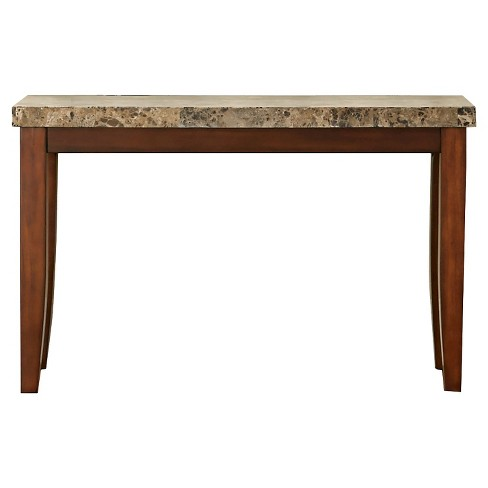 Montibello Sofa Table Brown Faux Marble - Steve Silver - image 1 of 1