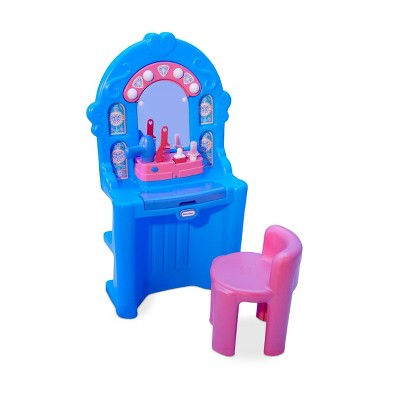 Little Tikes Ice Princess Magic Mirror Roleplay Vanity with Lights Sounds and Pretend Beauty Accessories