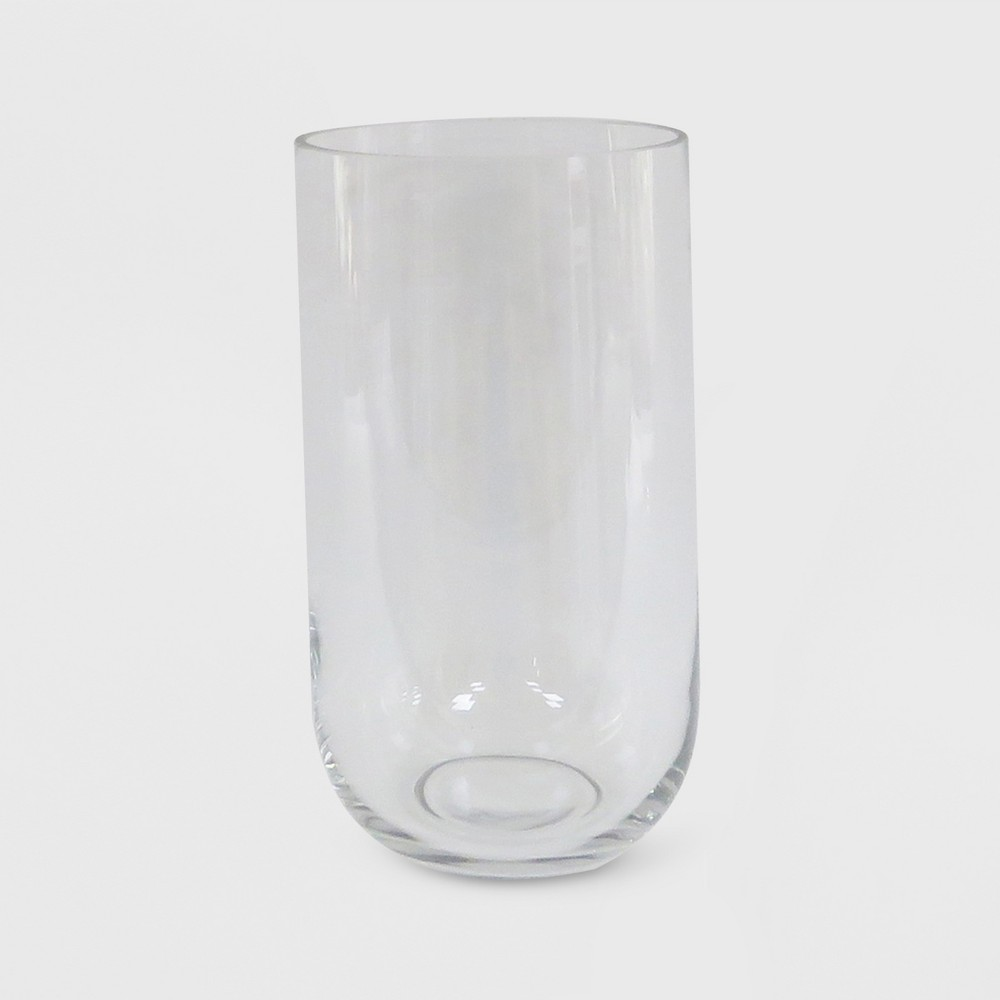 "Image of ""11"""" x 6.2"""" Hurricane Glass Pillar Candle Holder Clear - Made By Design"""