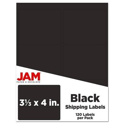 "JAM Paper Mailing Labels 3 1/3"" x 4"" 120ct"