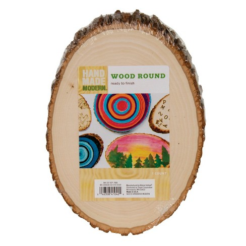 Hand Made Modern Wood Round - image 1 of 2