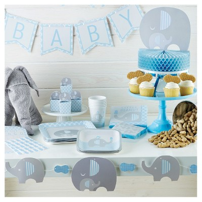 Little Peanut Boy Elephant Baby Shower Party Supplies Collection