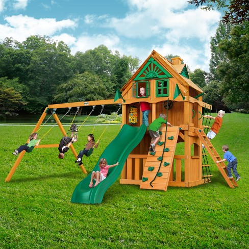 Gorilla Playsets Chateau Clubhouse Treehouse Swing Set With Fort Add