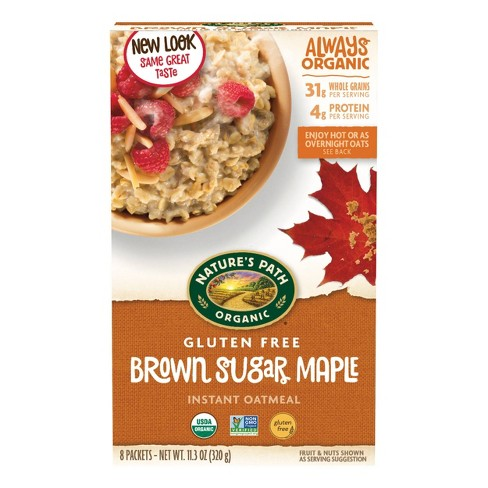 Nature's Path Gluten Free Brown Sugar Maple Instant Oatmeal - 11.3oz - image 1 of 4