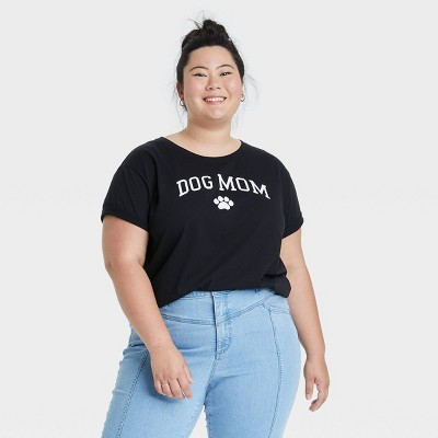 Women's Dog Mom Short Sleeve Graphic T-Shirt