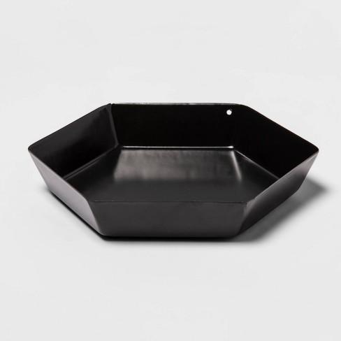 Hexagon Metal Tray Black - Room Essentials™ - image 1 of 3