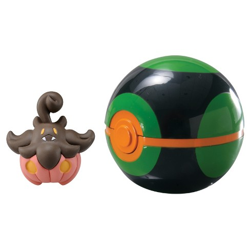 Pokemon Clip 'N' Carry Poke Ball with Figure Pumpkaboo and Dusk Ball - image 1 of 1