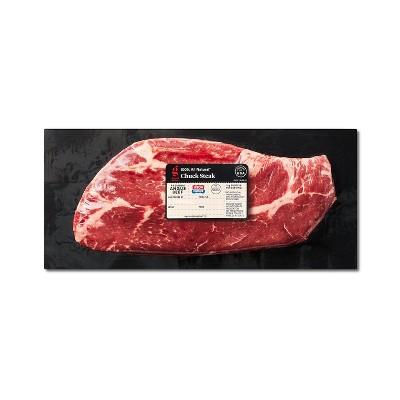 USDA Choice Angus Beef Chuck Steak - 0.93-1.55 lbs - price per lb - Good & Gather™