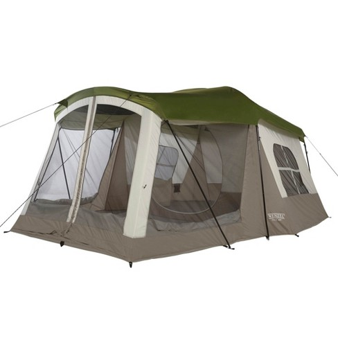 Wenzel Klondike Large Outdoor 8 Person Camping Tent with Screen Room, Green - image 1 of 4