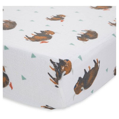Little Unicorn Fitted Crib Sheet - Bison