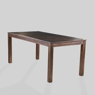 Manila Rectangle Acacia Wood Dining Table Dark Brown - Christopher Knight Home