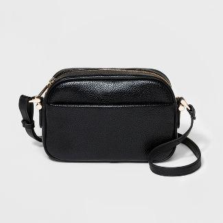 Soft Camera Crossbody Bag - A New Day™ Black