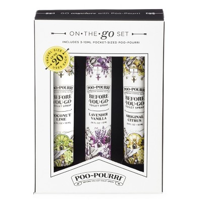 .34 fl oz 3pk Toilet Spray Lavender Vanilla/Coconut Lime/Original Citrus - Poo~Pourri
