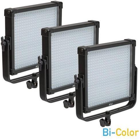 F&V K4000 SE 1x1 V-Mount Bi-Color LED Studio Panel 3-Light Kit, Includes 3x Milk-White Diffusion Filter and Nylon Case - image 1 of 4