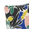 Floral Square Throw Pillow Peach - Cloth & Company - image 3 of 4